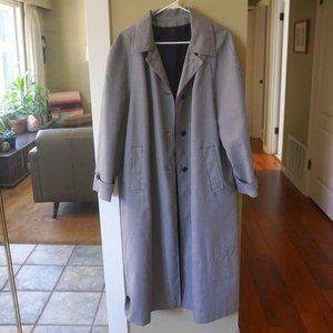 Super cool long gingham trench coat